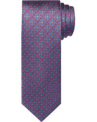 Jos. A. Bank Reserve Collection Medallion Tie - Purple