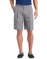 Jos. A. Bank - David Leadbetter Traditional Fit Pleated Front Windowpane Shorts - Lyst
