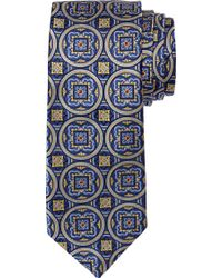 Jos. A. Bank Signature Gold Circle Medallion Tie - Blue