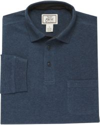 Jos. A. Bank | 1905 Tailored Fit Long-sleeve Donegal Polo Shirt | Lyst
