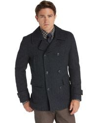 Jos. A. Bank - 1905 Collection Traditional Fit Double-breasted Herringbone Peacoat Clearance - Lyst