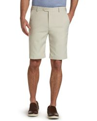 Jos. A. Bank - Traveler Collection Tailored Fit Flat Front Shorts - Big & Tall - Lyst