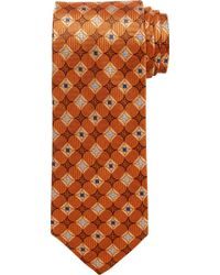 Jos. A. Bank Executive Collection Geometric Pattern Tie Clearance - Multicolor