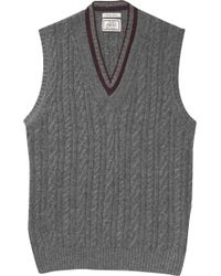 Jos. A. Bank 1905 Collection Cable Sweater Vest - Gray