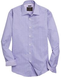 Jos. A. Bank - Reserve Collection Tailored Fit Spread Collar Check Sportshirt Clearance - Lyst