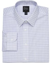 Jos. A. Bank - Traveler Collection Traditional Fit Point Collar Tattersall Dress Shirt - Lyst