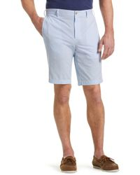 Jos. A. Bank - 1905 Collection Tailored Fit Flat Front Stripe Oxford Shorts - Big & Tall - Lyst