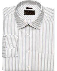 Jos. A. Bank Eserve Collection Tailored Fit Spread Collar Dot Pattern Dress Shirt - Big & Tall - Blue
