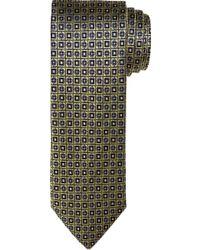 Jos. A. Bank Traveler Collection Check Tie - Yellow