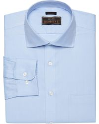 Jos. A. Bank - Reserve Collection Traditional Fit Spread Collar Herringbone Weave Dress Shirt - Lyst