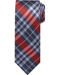 Jos. A. Bank Traveller Collection Plaid Tie - Long - Red