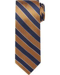 Jos. A. Bank Traveller Collection Stripe Tie - Orange
