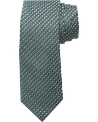 Jos. A. Bank Reserve Collection Textured Check Tie - Green