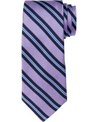 Jos. A. Bank Traveler Striped Tie - Purple