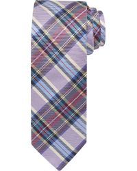 Jos. A. Bank Signature Gold Plaid Tie Clearance - Purple