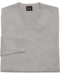 Jos. A. Bank - Signature Colletion Pima Cotton V-neck Sweater Clearance - Lyst
