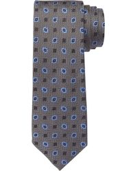 Jos. A. Bank 1905 Square Patterned Tie - Gray