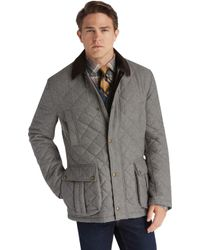 Jos. A. Bank - 1905 Collection Traditional Fit Herringbone Quilted Barn Coat - Lyst