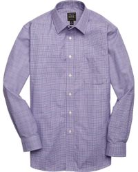 Jos. A. Bank - Traveller Collection Tailored Fit Point Collar Check Sportshirt - Lyst