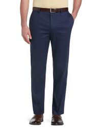 Jos. A. Bank - Reserve Collection Tailored Fit Flat Front Chino Trousers - Big & Tall - Lyst
