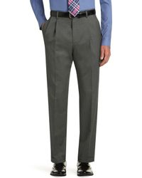 Jos. A. Bank - Executive Collection Traditional Fit Pleated Front Dress Pants - Big & Tall Clearance - Lyst