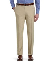 Jos. A. Bank - Traveller Performance Tailored Fit Flat Front Trousers - Lyst