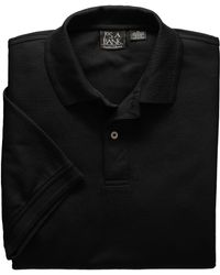 Jos. A. Bank Traveler Collection Traditional Fit Short Sleeve Polo Shirt - Big & Tall - Black