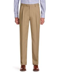 Jos. A. Bank - Traveler Performance Traditional Fit Pleated Front Pants - Lyst