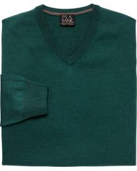Jos. A. Bank - Traveler Collection Merino Wool V-neck Sweater - Big & Tall - Lyst