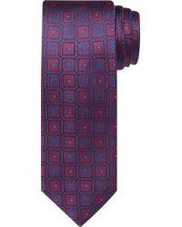 Jos. A. Bank Reserve Collection Ornate Check Tie - Red