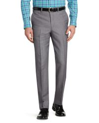 Jos. A. Bank - Signature Collection Tailored Fit Flat Front Herringbone Dress Pant - Big & Tall Clearance - Lyst