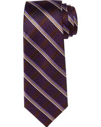 Jos. A. Bank Reserve Collection Diamond Stripe Tie Clearance - Purple