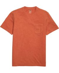 Jos. A. Bank 1905 Tailored Fit Garment Dyed Slub T-shirt - Orange