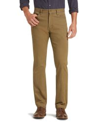 Jos. A. Bank - 1905 Collection Tailored Fit Flat Front Cotton Canvas Pants - Lyst