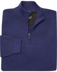 Jos. A. Bank - Travel Tech Quarter-zip Mock-neck Sweater - Lyst