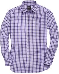 Jos. A. Bank - Traveler Collection Traditional Fit Point Collar Plaid Men's Sportshirt - Big & Tall - Lyst