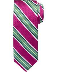 Jos. A. Bank Reserve Collection Bright Stripe Tie - Multicolour