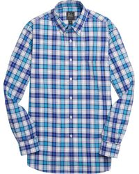 Jos. A. Bank - Traveler Collection Traditional Fit Button-down Collar Plaid Men's Sportshirt - Big & Tall - Lyst