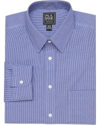 Jos. A. Bank - Traveler Collection Slim Fit Point Collar Micro Check Dress Shirt - Lyst