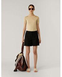 JOSEPH Tallin Rustic Canvas Trousers - Black