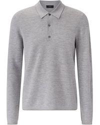 JOSEPH Polo Fine Milano Knit - Gray