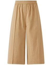 JOSEPH Stretch Linen Tan Shorts - Natural