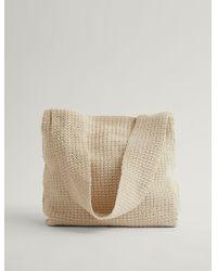 JOSEPH Crispy Cotton Hand Crochet Bag - Natural