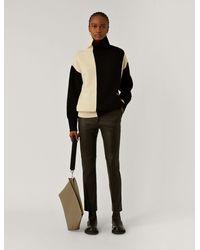 JOSEPH Coleman Stretch Leather Trousers - Black