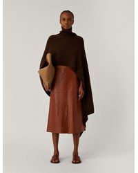 JOSEPH Poncho Luxe Cashmere Knit - Brown