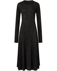 JOSEPH Lurex Diva Dress - Black