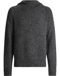 JOSEPH Mouline Knit Hoody - Gray