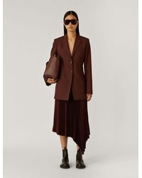 JOSEPH Jani Light Wool Suiting Jacket - Brown