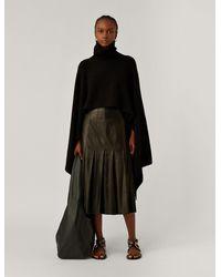 JOSEPH Poncho Luxe Cashmere Knit - Black
