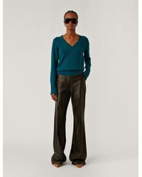 JOSEPH V Neck Pure Cashmere Knit - Multicolour